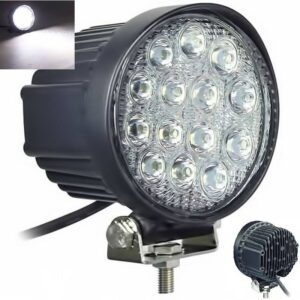 pazari4all-Στρογγυλός 42W προβολέας led αυτοκινήτου με ψυχρό φως - ΟΕΜ