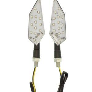 Φλάς μηχανής 13 SMD LED πορτοκαλί amber universal 12V IP65 σετ 2 τεμ D65 OEM-pazari4all.gr