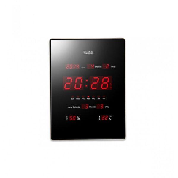 Slim ψηφιακό ρολόι - ημερολόγιο τοίχου LED θερμόμετρο 75b3913baae