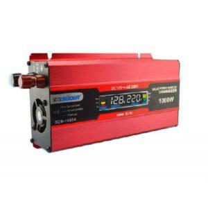 pazari4all.gr-Inverter 1000W τροποποιημένου ημιτόνου από 12V σε 220V+5V USB SUOER SDB-1000A