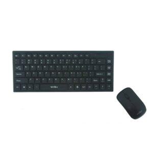 pazari4all.gr - Σετ Φορητό Ασύρματο Πληκτρολόγιο + Ποντίκι σε Μαύρο χρωμα☇