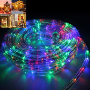 pazari4all.gr - Χριστουγεννιατικο Διακοσμητικο LED σχοινι 10 m RGB ΑΔΙΑΒΡΟΧΟ IP65
