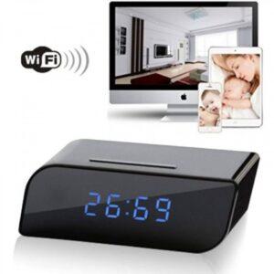 pazari4all.gr-Ρολόι κρυφή κάμερα 720P HD με wifi & ανιχνευτή κίνησης για νυχτερινή όραση