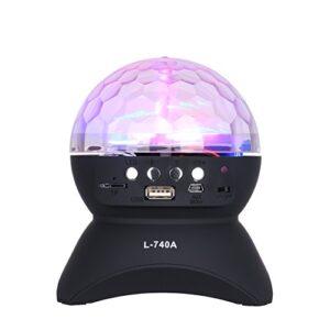 pazari4all.gr - L-740 Φορητό ασύρματο ηχείο Bluetooth Crystal Ball Disco LED