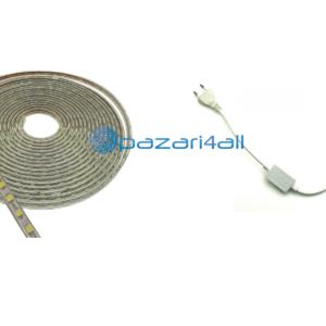 pazari4all.gr - LED ταινία strip αδιάβροχη 1m - 100m 5050 warm white 220V 60 SMD OEM
