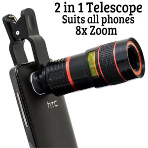 pazari4all.gr-Μινι Τηλεσκόπιο – Μονόκυαλο 8x και για Κινητό Τηλέφωνο 2 σε 1 – Οπτικός Τηλεφακός Ζουμ