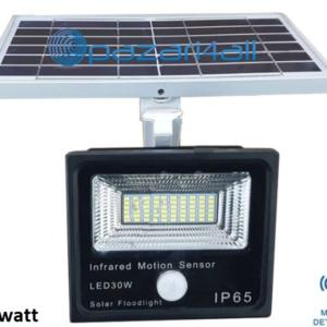 pazari4all.gr - 30w LED προβολέας εξωτερικού χώρου με Φωτοβολταϊκό Πάνελ και ανίχνευση κίνησης