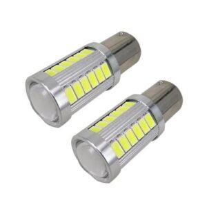 pazari4all.gr-Μονοπολική Λάμπα LED1156 12V CAN BUS 18W 6000K Σετ 2τμχ