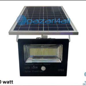 pazari4all.gr - 100w LED προβολέας εξωτερικού χώρου με Φωτοβολταϊκό Πάνελ και ανίχνευση κίνησης