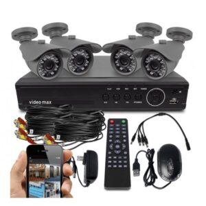 Πλήρες έγχρωμο σετ CCTV εποπτείας και καταγραφής με 4 Κάμερες και σύνδεση μέσω app κινητής SECURITY PLUS SYSTEM-OEM