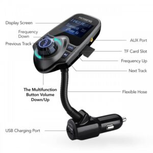 pazari4all.gr-T10 Bluetooth MP3 Player / FM Transmitter, για το Αυτοκίνητο, TF Card Slot