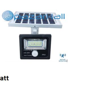 pazari4all.gr - 20w LED προβολέας εξωτερικού χώρου με Φωτοβολταϊκό Πάνελ και ανίχνευση κίνησης