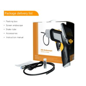 pazari4all.gr - Ενδοσκοπική κάμερα επιθεώρησης με 4,3 ιντσών οθόνη αφής έγχρωμη LCD Endoscope Borescope αδιάβροχη χειροκίνητη κάμερα με ημι-άκαμπτο καλώδιο 3,2 μέτρων