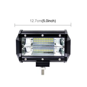 Μπάρα 72W 6000K 3000LM LED αδιάβροχο IP67 9-48V (λευκό φως)