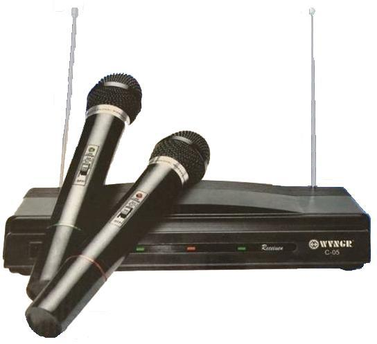 pazari4all.gr-Συσκευή Karaoke Με Δύο Ασύρματα Μικρόφωνα Wireless Herostar C-05