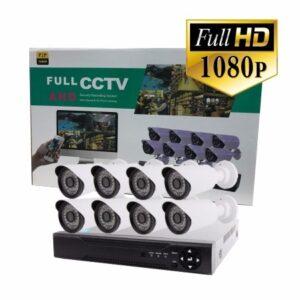 pazari4all.gr-Kit καταγραφικό ασφαλείας με 8 Κάμερες CCTV Dvr Ahd Full HD 1080