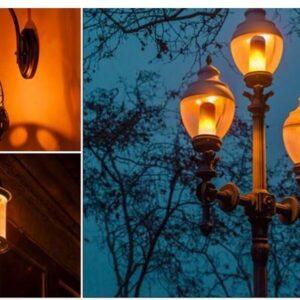 pazari4all.gr- Διακοσμητική Λάμπα LED Με Εφέ Φλόγας 6W E27 220V HYD-1
