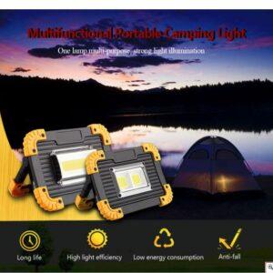 pazari4all.gr-Επαναφορτιζόμενος LED Φορητός Προβολέας 20W - Φακός & Φωτιστικό Εργασίας με Powerbank