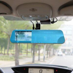"pazari4all.gr-Καθρέφτης κάμερα αυτοκινήτου 4.3"" Full HD 1080P με κάμερα οπισθοπορείας - Novatek 96650"