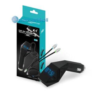 pazari4all.gr-Πομπός Bluetooth USB, SD & Φορτιστής USB Αυτοκινήτου με Μικρόφωνο - Car FM Transmitter