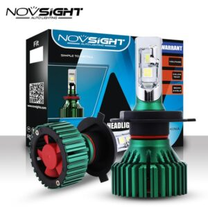 pazari4all.gr-LED Φώτα Αυτοκινήτου NovSight N8 H4 6500K 16000LM (2x8000) 60W (2x30W) CAN BUS