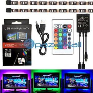 pazari4all.gr-Πλήρες Κιτ Κρυφού Φωτισμού RGB Με USB για Τηλεοράσεις με Τηλεχειριστήριο L17 OEM