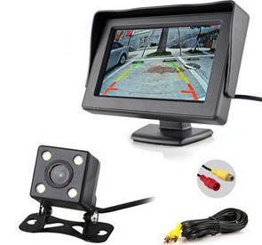 pazari4all.gr-Πλήρες Σετ Κάμερας Οπισθοπορείας Αυτοκινήτου με Έγχρωμο TFT μόνιτορ 4,3»