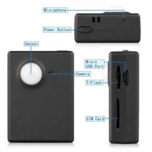 pazari4all.gr- Κοριός Συσκευή παρακολούθησης με κάρτα SIM-GSM - A9 με Ανίχνευση Κίνησης