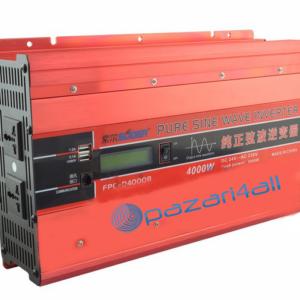pazari4all.gr Καθαρός μετατροπέας ημιτονοειδούς κύματος με ένδειξη LED Suoer 4000W
