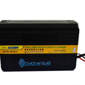 pazari4all.gr Φορτιστής ψηφιακής οθόνης Suoer 12V 24V Smart Charger (SON-20A +)