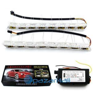 pazari4all.gr -2X Ευέλικτο Κρυστάλλινο Αυτοκίνητου LED DRL
