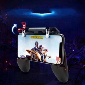 pazari4all.gr-W10 Χειριστήριο παιχνιδιών για κινητά Gamepad Joystick - ΜΑΥΡΟ