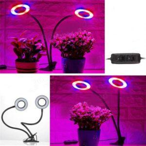 pazari4all.gr - Διπλό LED Φωτιστικό USB Ανάπτυξης Φυτών Full Spectrum με Κλιπ & Εύκαμπτο Βραχίονα
