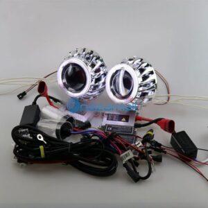 pazari4all.gr-Προτζέκτορες φαναριών Bi-xenon Angel Eyes HID 35W 12V 10cm