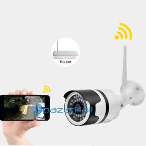 pazari4all.gr-Eξωτερική κάμερα παρακολούθησης HD 960P με νυχτερινή όραση P2P αδιάβροχη και με ασύρματο ήχο ONVIF CCTV Bullet Wifi IP 9