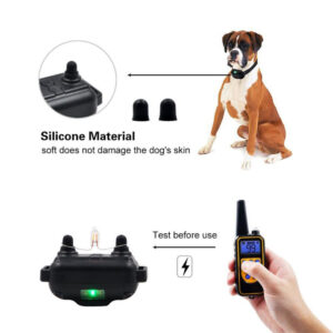 pazari4all.gr -Επαναφορτιζόμενο κολάρο αδιάβροχο για ηλεκτρονική προπόνηση σκύλων Stop Barking με οθόνη LCD 800m απομάκρυνση