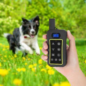 pazari4all.gr Ηλεκτρικό Εκπαιδευτικό κολάρο με δόνηση για Απομακρυσμένη Εκπαίδευση Σκύλων Pet με Highlight LED