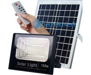 pazari4all.gr -Αυτόνομος Ηλιακός Φωτοβολταϊκός Προβολέας LED 150 Watt IP 67 με Ασύρματο Χειριστήριο
