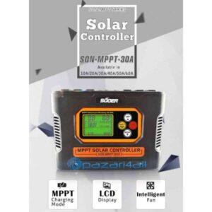 pazari4all.gr Suoer Ελεγκτής ηλιακού συστήματος νέας σχεδίασης και φορτιστή μπαταρίας 30P (SON-MPPT-30A)