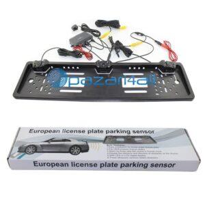 pazari4all.gr 1 ευρωπαϊκή πινακίδα πλαισίου + 1 κάμερα οπίσθιου προβολέα αυτοκινήτου + 2 αισθητήρες στάθμευσης αυτοκινήτου