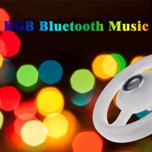 pazari4all.gr Λάμπα E27 24W Bluetooth RGB μουσική LED με δαχτυλίδι (220 ~ 240V)