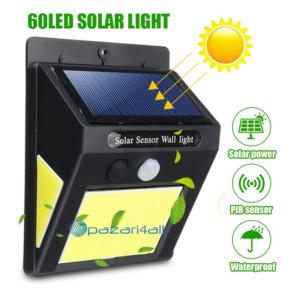 pazari4all.gr-Ηλιακός προβολέας με 60 SUPER LED και αισθητήρα κίνησης
