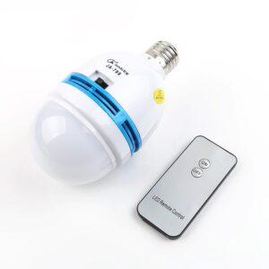 pazari4all.gr- Επαναφορτιζόμενη, Τηλεχειριζόμενη LED Λάμπα Οικονομίας Ε27