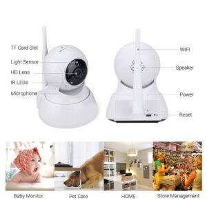 pazari4all.gr-Ασύρματη IP Camera - Mi Home Camera 360 720p - Λευκό