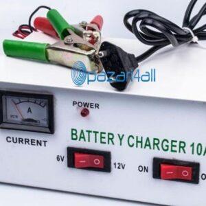pazari4all.gr-Φορτιστής μπαταριών για επαναφορτιζόμενες μπαταρίες 6 / 12V 10A