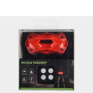 pazari4all.gr- Επαναφορτιζόμενο ασύρματο φως ποδηλάτου με φλας, LED & laser