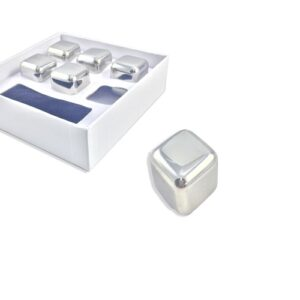 pazari4all.gr-Παγάκια Cooling Cubes από Ανοξείδωτο ατσάλι που δεν λιώνουν Σετ 6 τεμαχίων με πουγκί