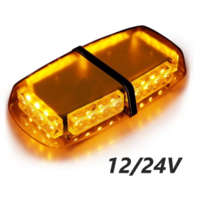 pazari4all.gr-Μαγνητικός Πορτοκαλί Φάρος 24Led Strobe Light Bar 12V-24V - OEM