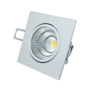 pazari4all.gr- Led σποτ μπάνιου κινητό λευκό τετράγωνο χωνευτό 6W 230V 6000k ψυχρό φως 60° 440lm στεγανό IP44