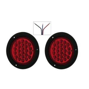 pazari4all.gr-Ζευγάρι στρογγυλά φανάρια LED 24V με σκάλα high/low κόκκινο - ΟΕΜ
